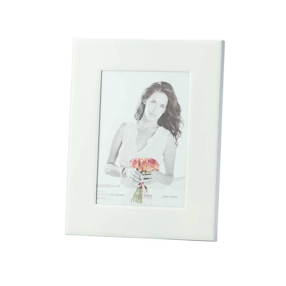 Porta-Retrato Branco 10x15 cm em Ferro Esmaltado - Lyor Classic