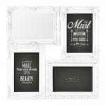 Porta-Retrato Branco - 3 Fotos 10x15 cm - com Espelho