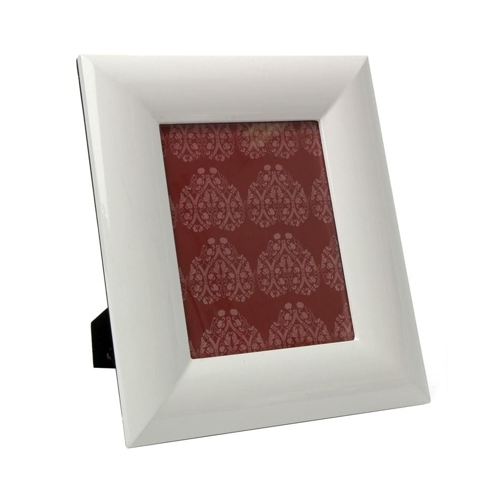 Porta-Retrato Branco Spiron - Foto 20x25 cm - em Laca - 39x34 cm