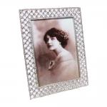 Porta-Retrato Brilliant Prata - Foto 13x18 cm - em Metal - 20x15 cm