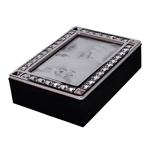 Porta-Retrato Caixa Diamonds em Veludo - 20x6 cm