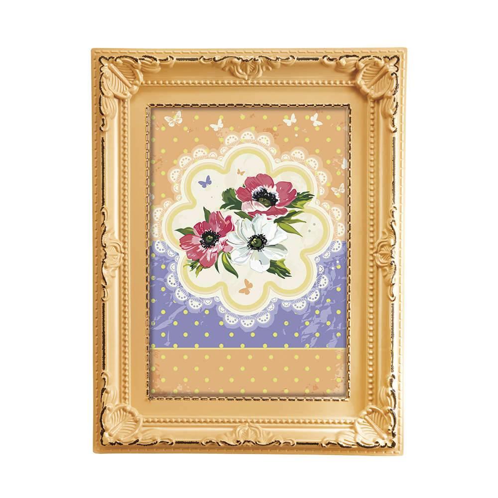 Porta-retrato Candy 10x15 cm Coral - 19x14,5 cm