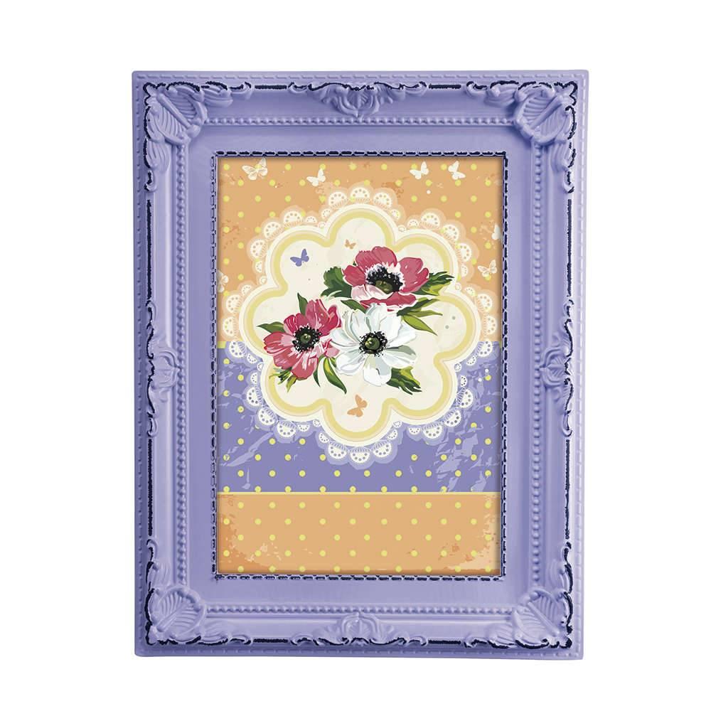 Porta-Retrato Candy 10x15 cm Lilás - 19,5x14,5 cm