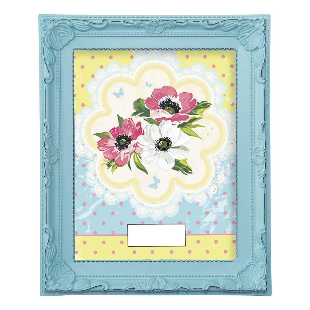 Porta-Retrato Candy 20x25 cm Azul - 28x23 cm