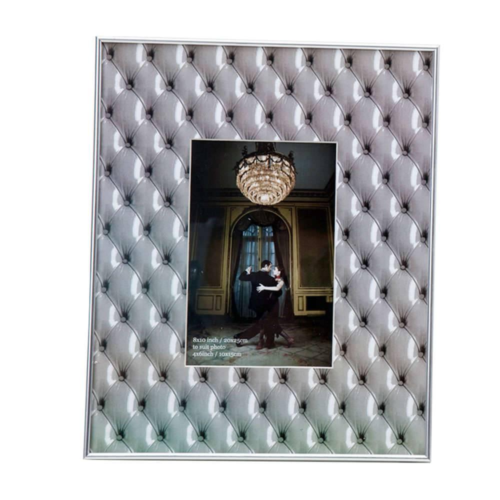 Porta-Retrato Capitonet Cinza em PVC - Urban - 25x20 cm