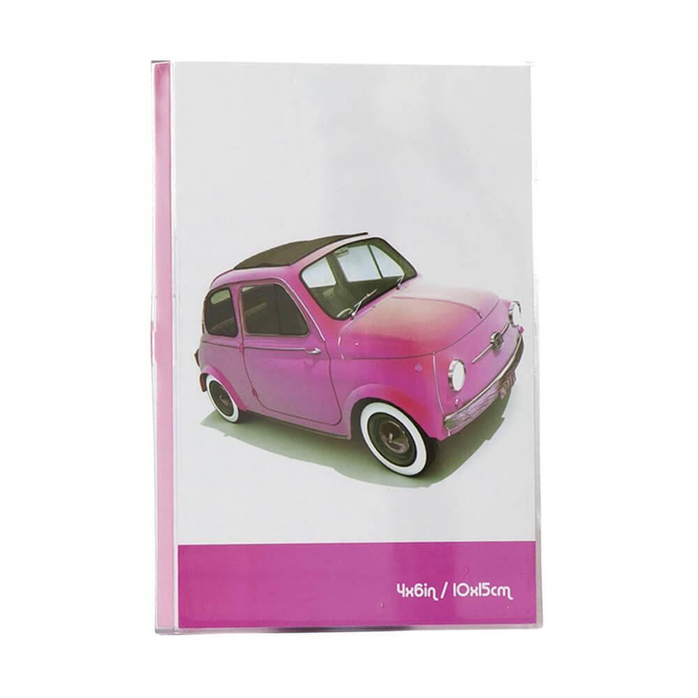 Porta-Retrato Cars Rosa em Polipropileno - Urban - 18x15,6 cm