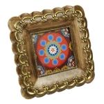 Porta-Retrato Étnico Quadrado em Resina - 18x18 cm