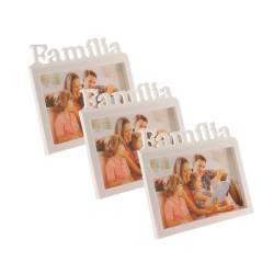 37ae24c808baf Porta-Retrato Família Branco - 3 Peças - 22x20 cm