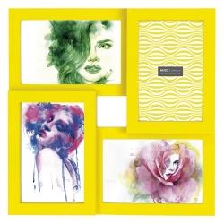 3ed0879dc6c89 Porta-Retrato Four Photos - Fotos 10x15 cm - Amarelo