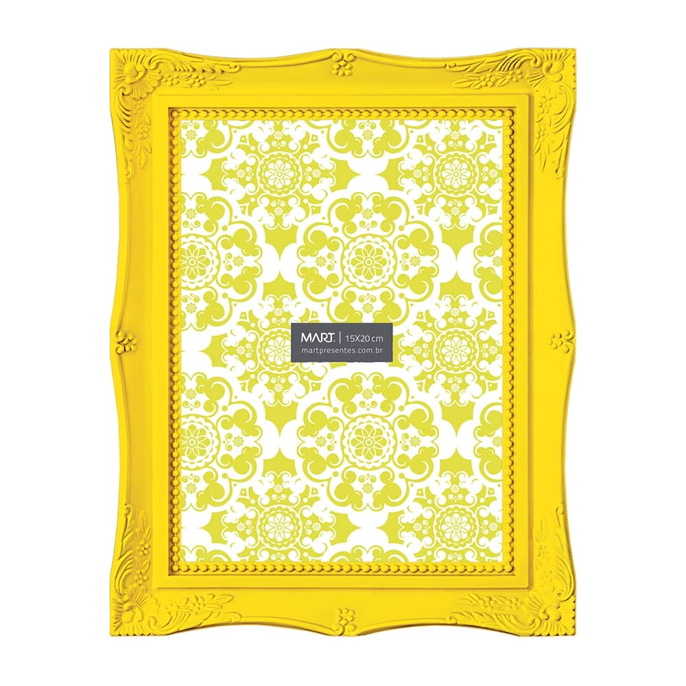 Porta-Retrato Frame - Foto 15x20 cm - Amarelo - 24,5x19,5 cm