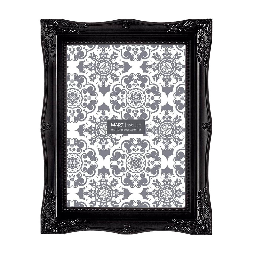 Porta-Retrato Frame - Foto 15x20 cm - Preto - 24,5x19,5 cm