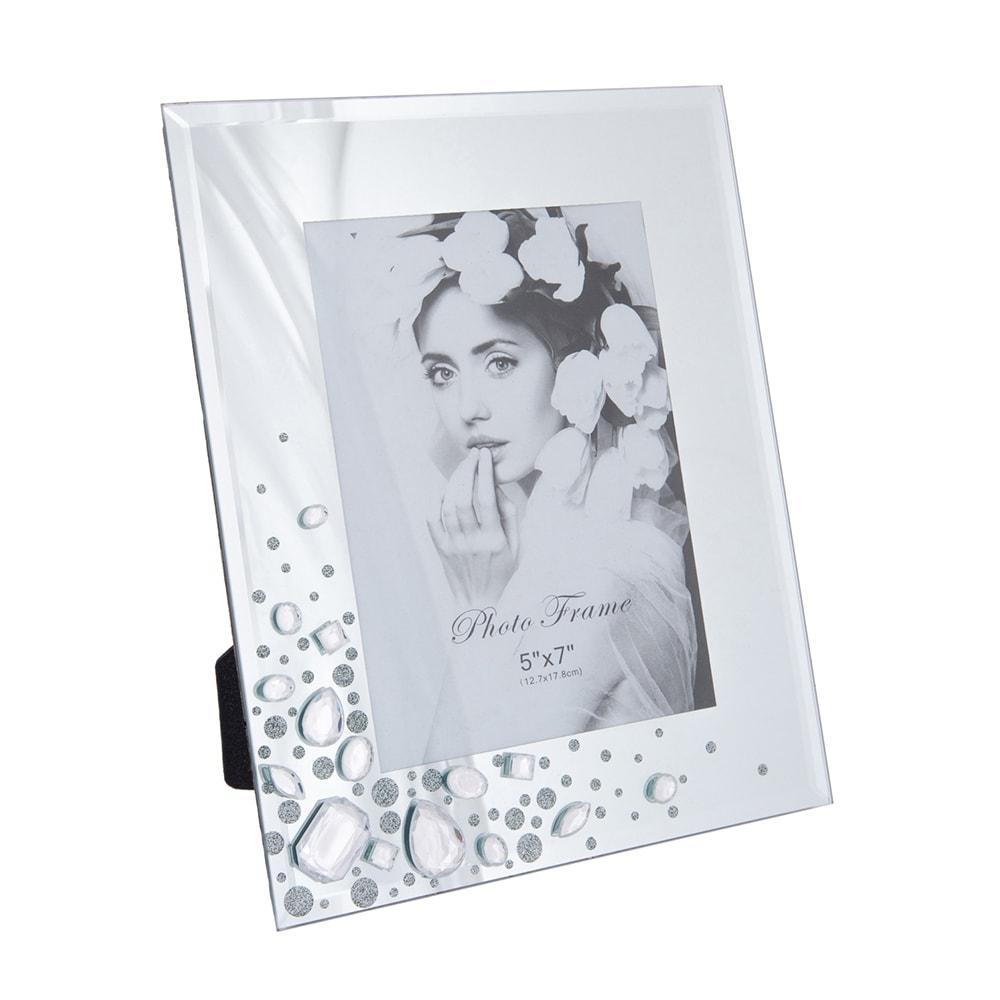 Porta-Retrato Gems - Foto 13x18 cm - Transparente em Resina - 25x20 cm