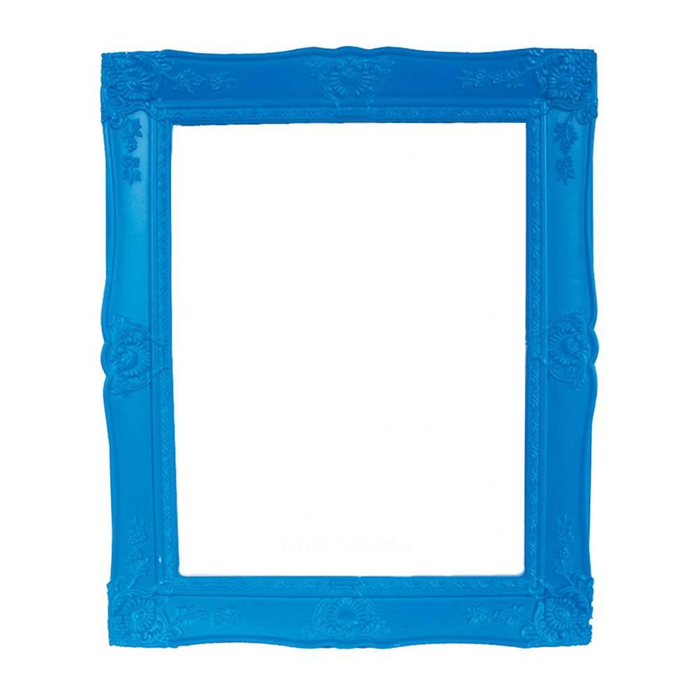 Porta-Retrato Grande New Cirque Azul em Polipropileno - Urban - 25x20 cm