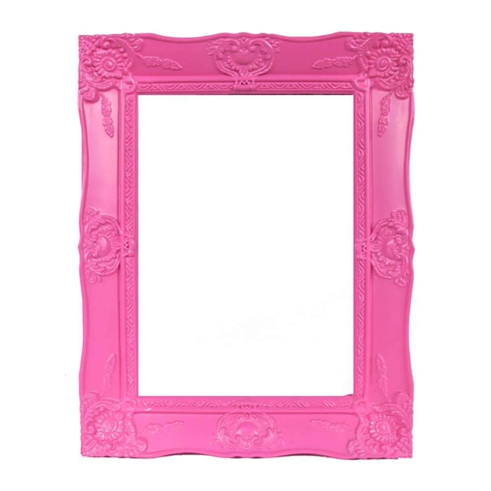 Porta-Retrato Grande New Cirque Rosa em Polipropileno - Urban - 18x13 cm