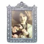 Porta-Retrato Imperial Prata Envelhecido 21x15 cm em Metal
