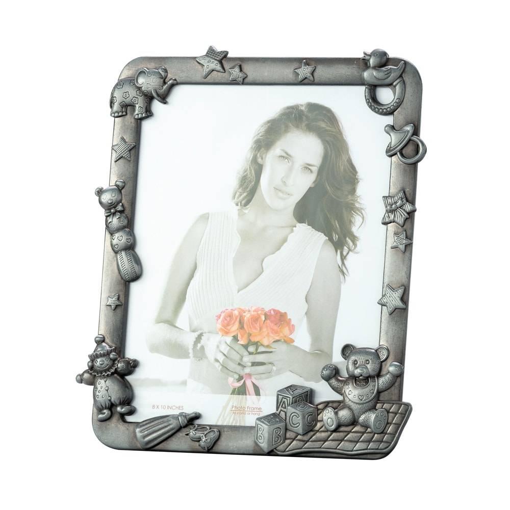 Porta-Retrato Infantil em Zamac para Foto 25x20 cm - Lyor Classic - 31x26 cm