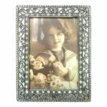 Porta-retrato Lis Prata - Foto 10x15 cm - em Metal - 19x14 cm