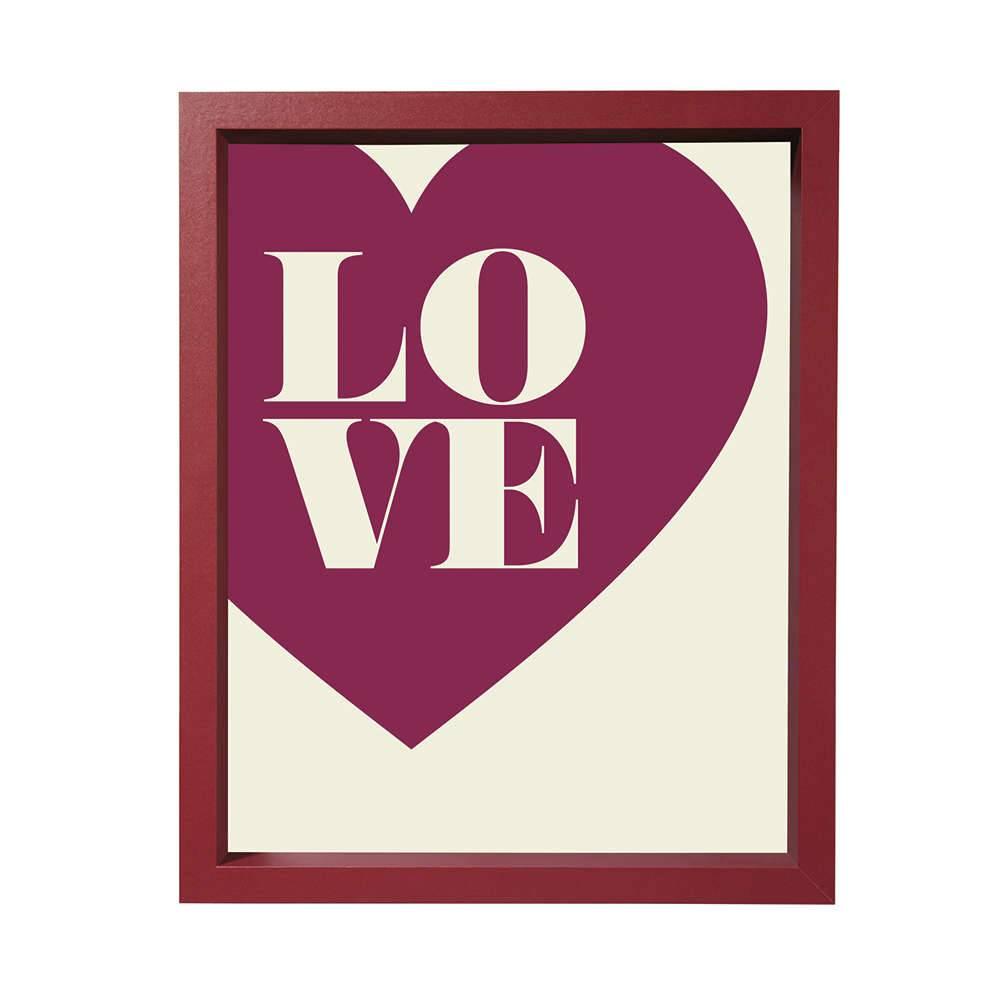 Porta-Retrato Love 10x15 cm Rosa - 16,5x11,5 cm