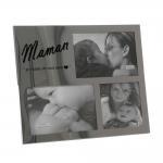Porta-Retrato Mãe - 3 Fotos - em Cerâmica - 30x25 cm