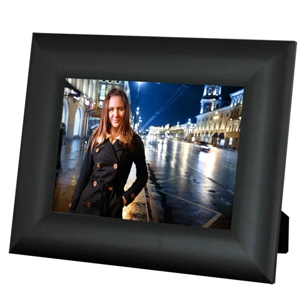 Porta-Retrato Moldura arredondada Preta - Foto 20x30 cm - Em MDF e Vidro - 34,5x24,5 cm