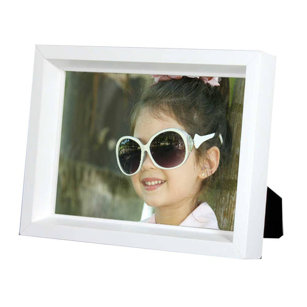 Porta-Retrato Moldura Profunda Branca - Foto 20x25 cm - Em MDF e Vidro - 27,5x22,5 cm