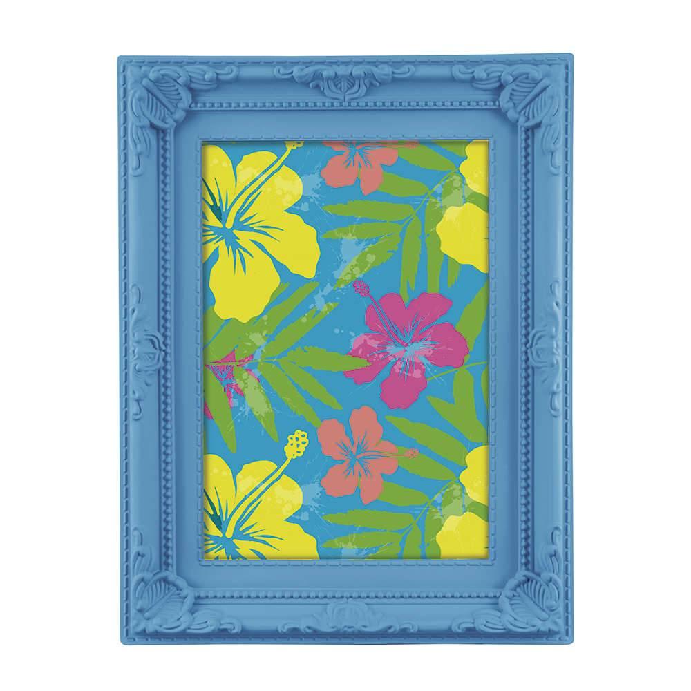 Porta-Retrato Neon 10x15 cm Azul - 19,5x14,5 cm