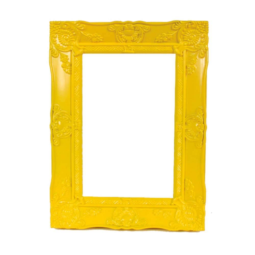 Porta-Retrato New Cirque Amarelo em Polipropileno - Urban - 15x10 cm