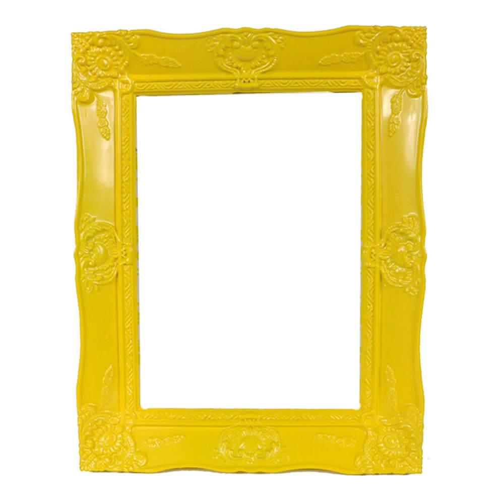Porta-Retrato New Cirque Amarelo em Polipropileno - Urban - 18x13 cm