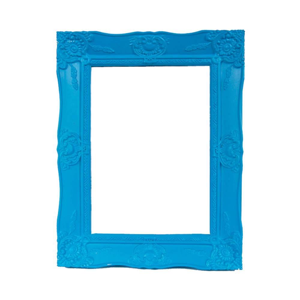 Porta-Retrato New Cirque Azul em Polipropileno - Urban - 15x10 cm