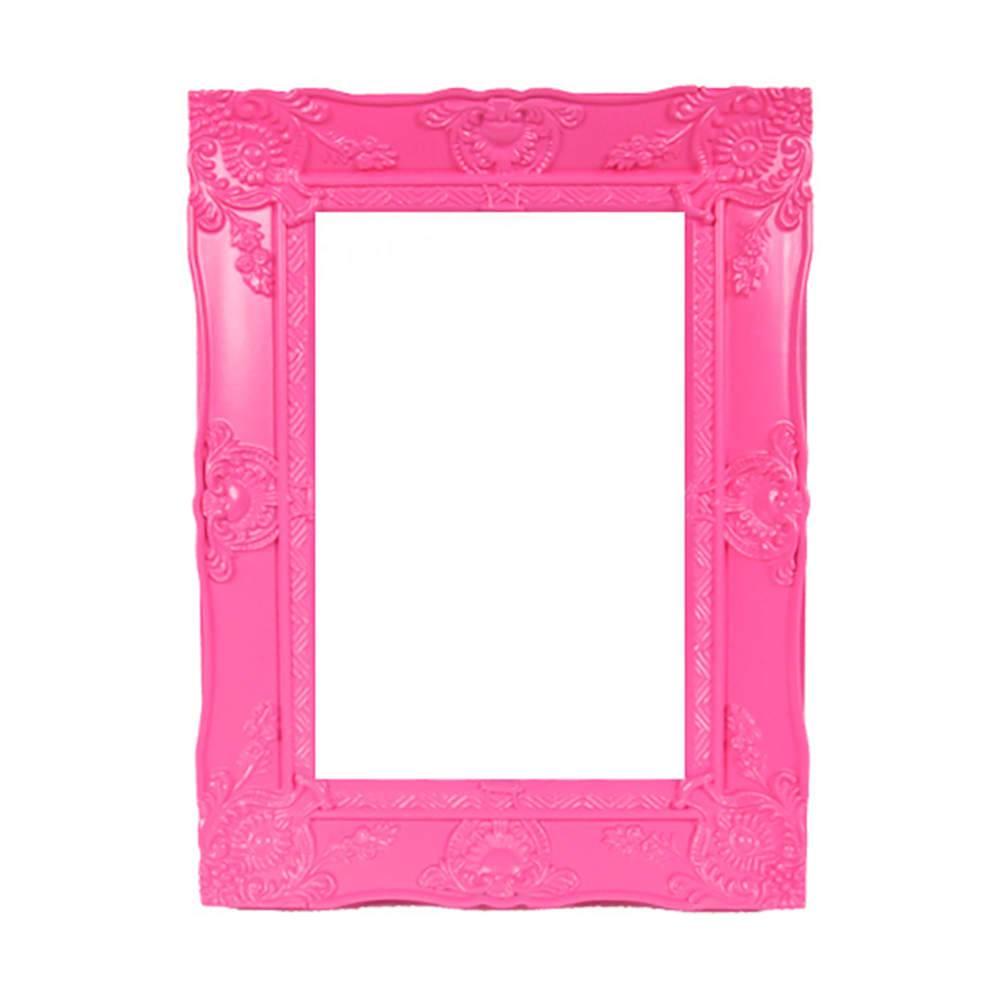 Porta-Retrato New Cirque Rosa em Polipropileno - Urban - 15x10 cm