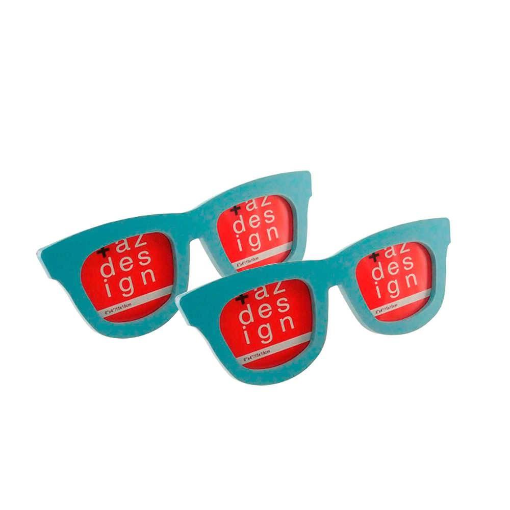 e1c3f049f3435 Porta-Retrato Óculos Azul - 2 Peças - 34x13 cm - Compre Porta ...