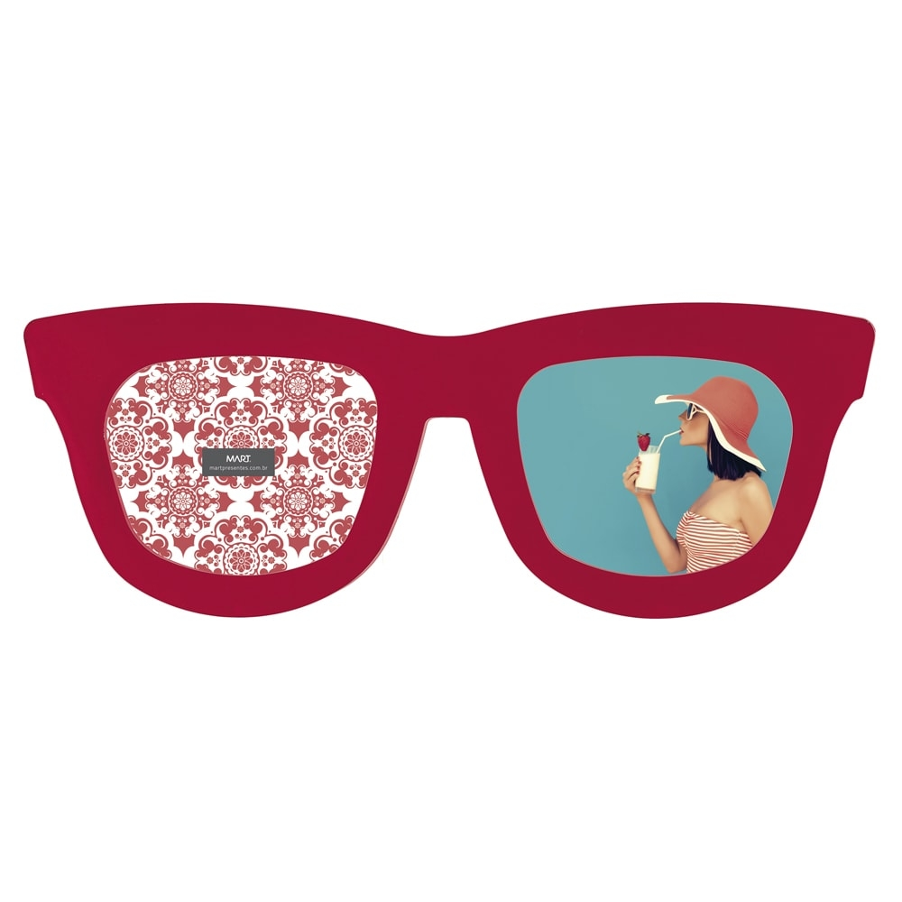 cd0dd07306ee6 Porta-Retrato Óculos Rosa Pink - 34x13 cm - Compre Porta-retratos ...