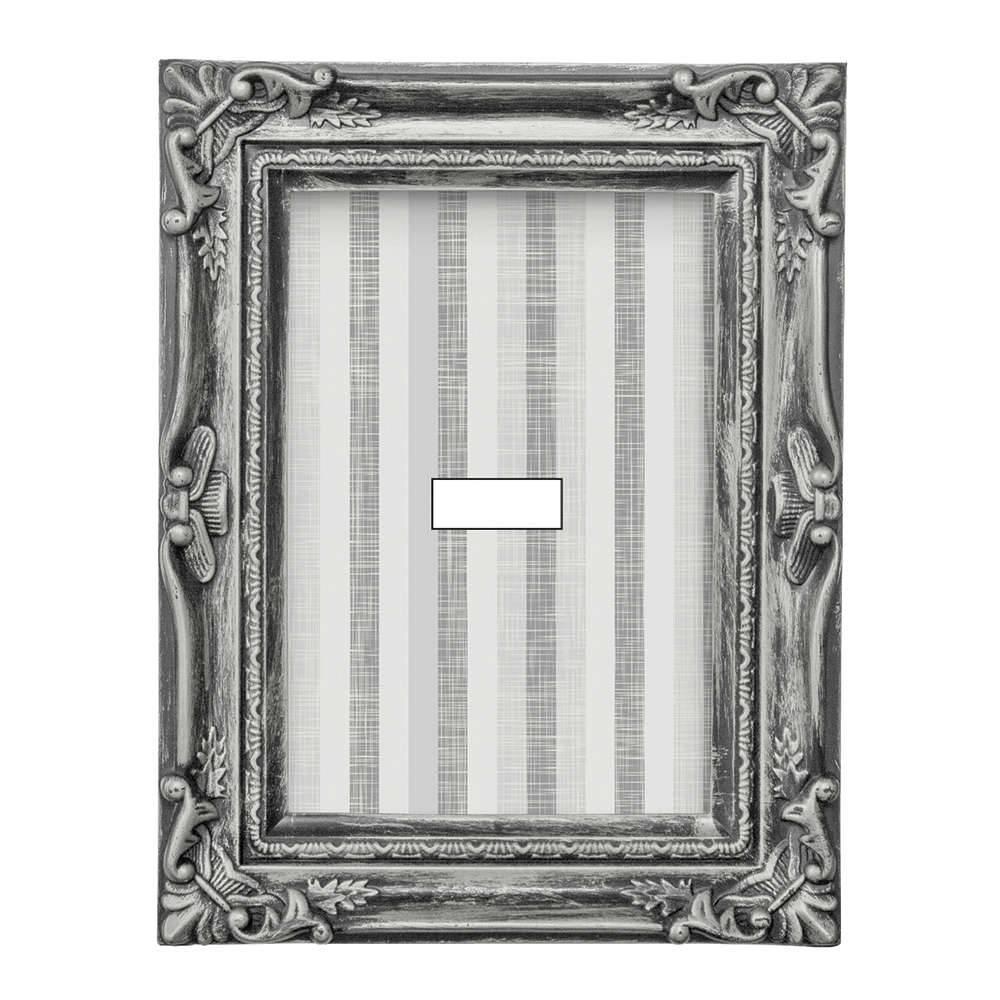 Porta-Retrato Old 10x15 cm Prata - 20x16 cm