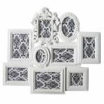 Porta-Retrato de Parede Barroque Frame Branco em Polipropileno - Urban - 66x58 cm