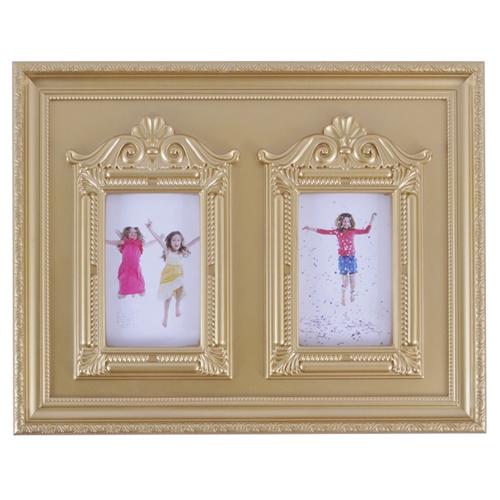Porta-Retrato de Parede Rococó Dourado - 45x34 cm