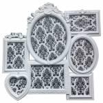 Porta-Retrato de Parede Romantic Frame Branco em Polipropileno - Urban - 52x52 cm