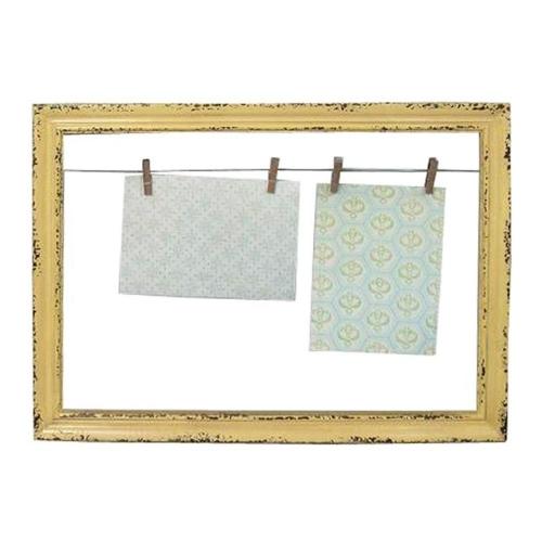 Porta-Retrato Quadro Amarelo em Metal - 47x34,5 cm