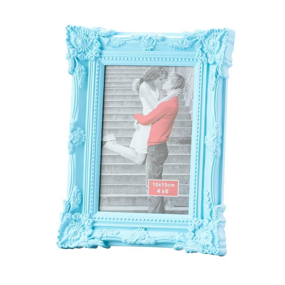 Porta-Retrato Retrô Azul p/ Foto 10x15 cm - Lyor Classic - 20x15 cm