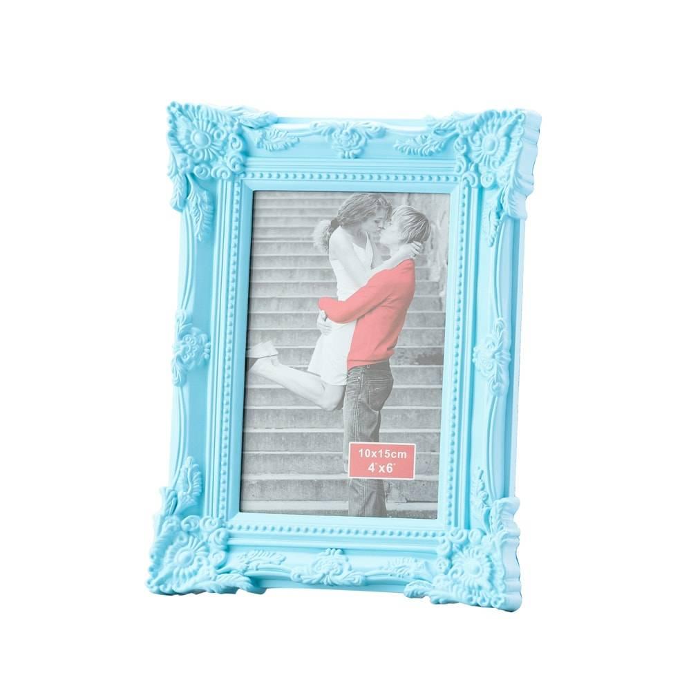 Porta-Retrato Retrô Azul p/ Foto 13x18 cm - Lyor Classic - 23x18 cm