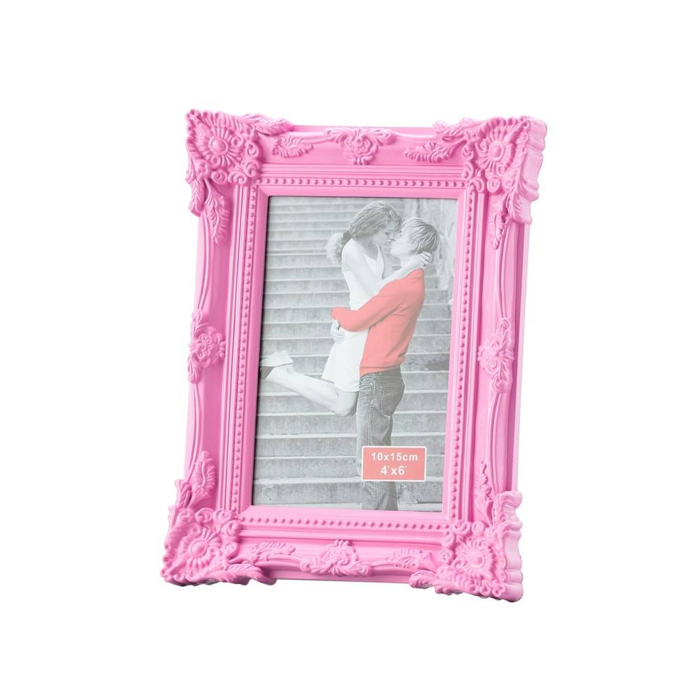 Porta-Retrato Retrô Rosa p/ Foto 13x18 cm - Lyor Classic - 23x18 cm