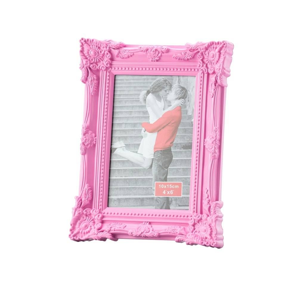 Porta-Retrato Retrô Rosa p/ Foto 20x25 cm - Lyor Classic - 28x23 cm