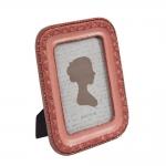 Porta-Retrato Romance - Foto 10x15 cm - Vermelho em Resina - 21x16 cm