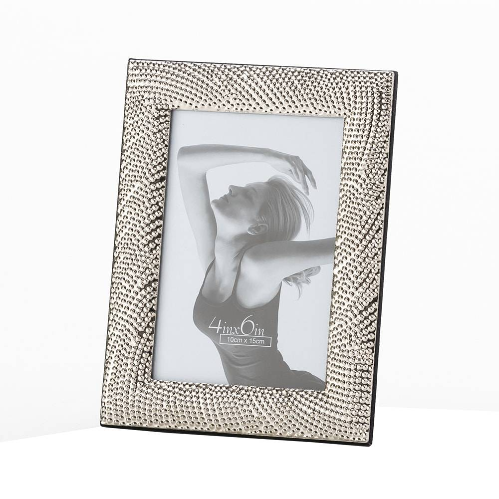 Porta-Retrato Rope Prateado em Aço para Foto 10x15 cm - Lyor Classic - 20x15 cm