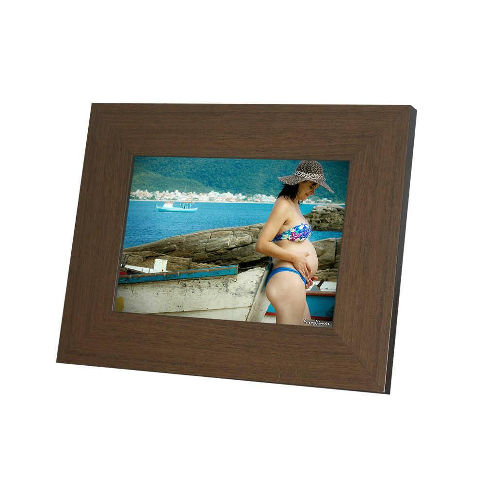 Porta-Retrato Rustic Marrom - 20x25 cm - em Madeira - 29x24,5 cm