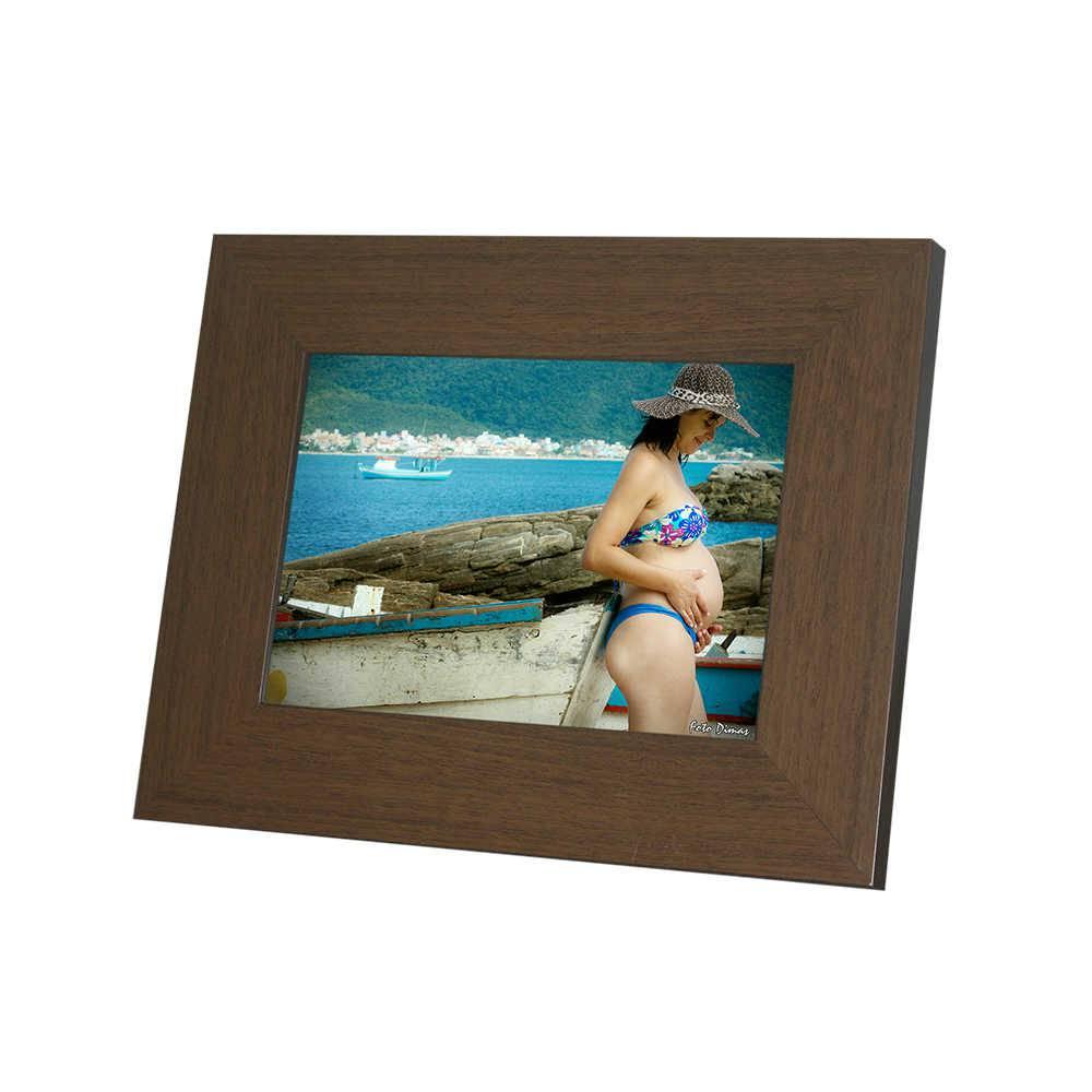 Porta-Retrato Rustic Marrom - 20x30 - em Madeira - 34x24,5 cm