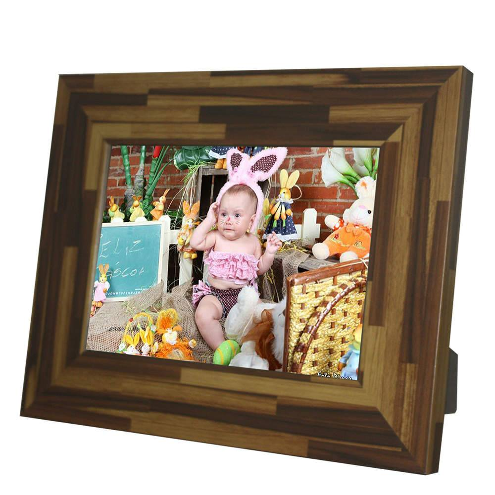 Porta-Retrato Rustic Teca - 20x30 - em Madeira - 34x24,5 cm