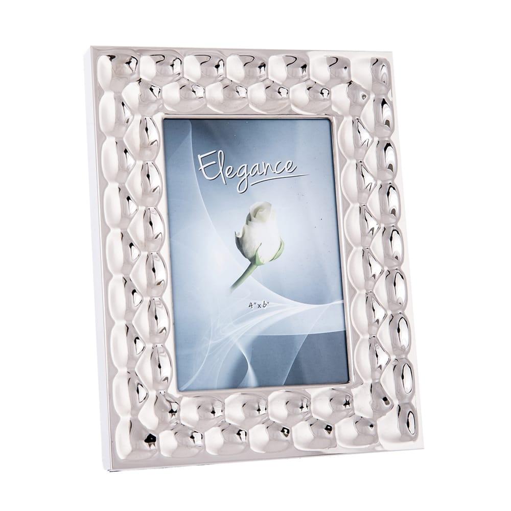 Porta-Retrato Scale - Foto 13x18 cm - Prata em Alumínio - 24x19 cm