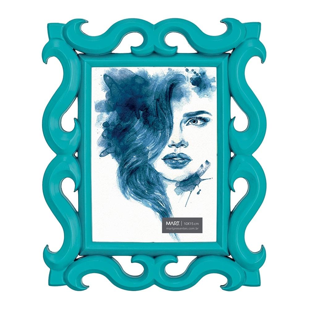 Porta-Retrato Scorpion - Foto 10x15 cm - Azul - 24,5x19,5 cm