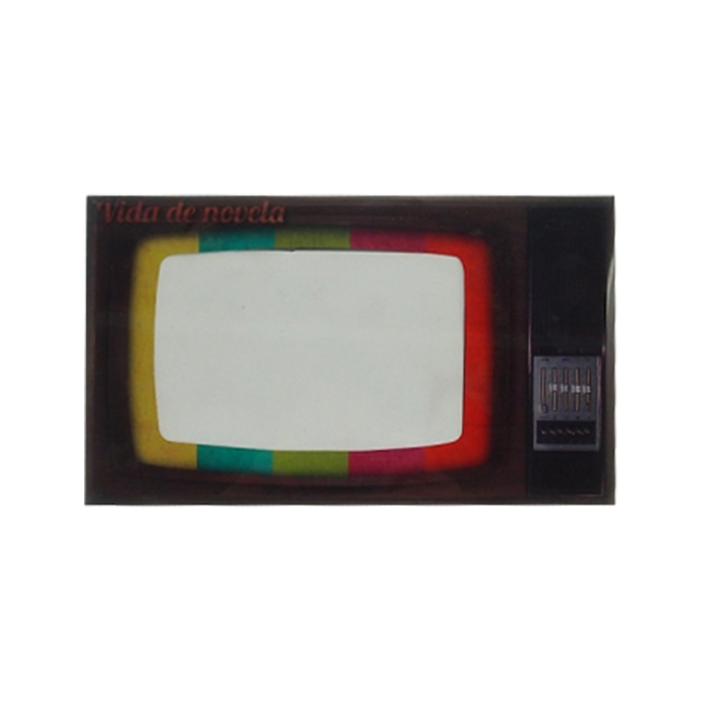 Porta-Retrato TV / Vida de Novela - Foto 10x15 cm - em Vidro - 25x15 cm