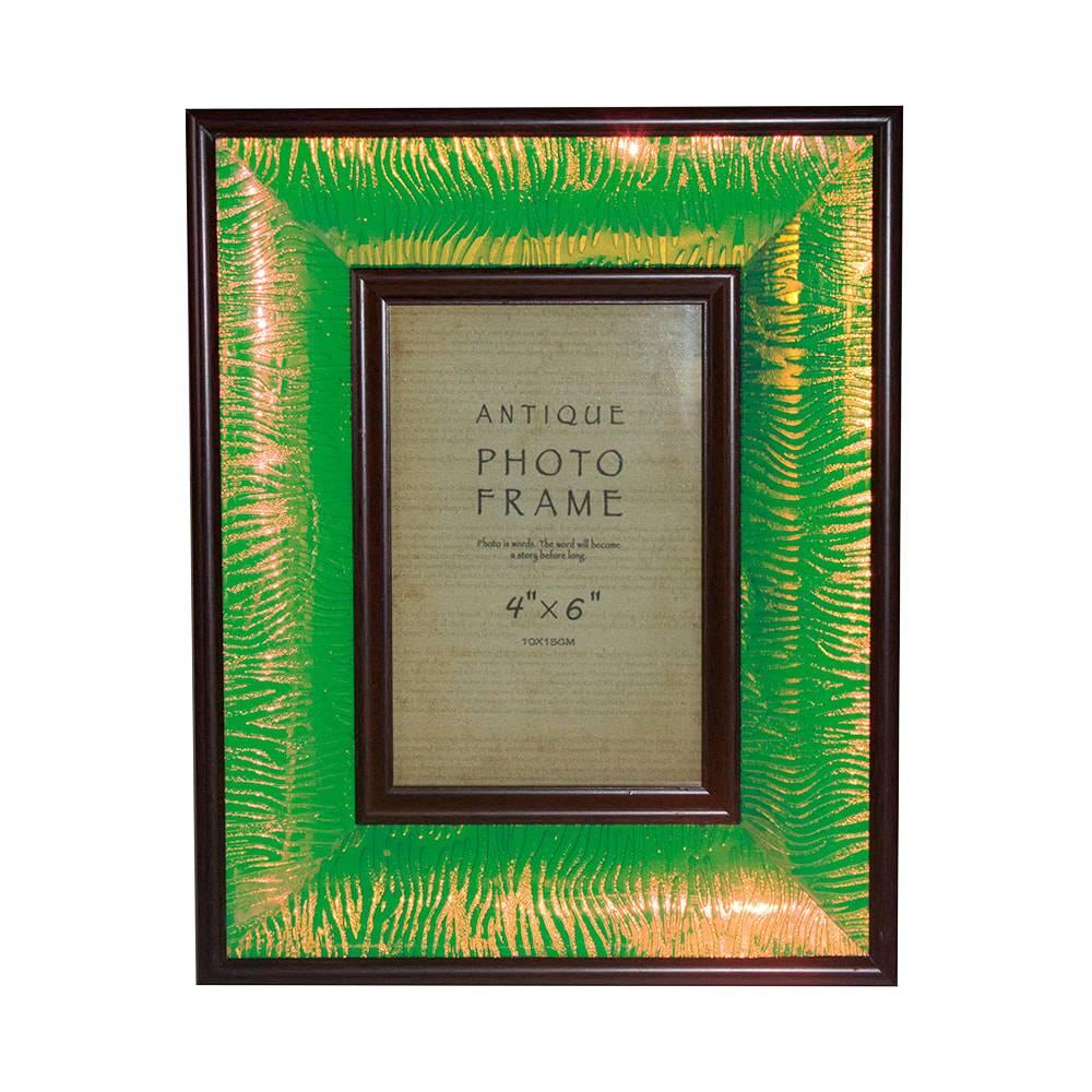 Porta-Retrato Verde Brilho Oldway - Foto 10x15 - 26x21x4 cm
